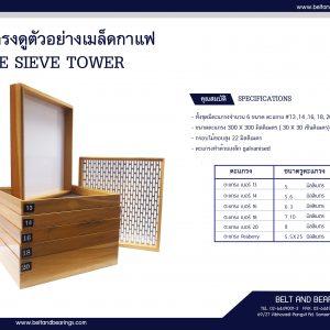 ชุดตะแกรงร่อนดูขนาดเมล็ดกาแฟ ผลิตโดย VNT Vina Nhatrang
