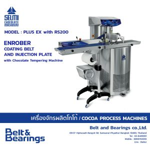Chocolate Tempering Machine With Enrober Coating Belt And Injection Plate